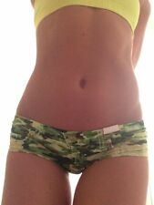 Sexy Low Rise Camouflage Mini Booty Shorts Rave Hipsters Festival Bottoms XL