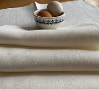 JOWOLLINA Stoff-Servietten-Set (50x50 cm) 100% Leinen, Off White