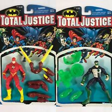 Green Lantern & The Flash Total Justice Action Figures (Kenner, 1996) Complete