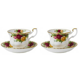 Royal Albert Old Country Roses Teacup & Saucer Set - Set of 2