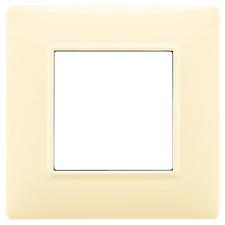 VIMAR PLANA PLACCA 2M CREMA 14642.04