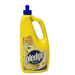 Pledge Wood Floor Cleaner Safely Cleans Orange 32 Fl Oz SC Johnson New RARE
