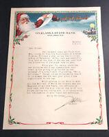Onalaska Wisconsin Bank Letterhead Color Graphics Santa Claus Christmas 1925