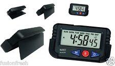 NAKO Quartz Car Dashboard Office Desk Alarm LCD Clock Stopwatch Flexible Stand