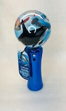 **Official** SeaWorld Light Up Spinning Wand Toy, Blue, Batteries Included