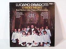 LUCIANO PAVAROTTI O HOLY NIGHT VTG RECORD 1976 ORIGINAL VINYL ALBUM W/ SONG LIST