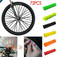 72Pcs Motorcycle Dirt Bike Spoke Skins Covers Wraps Wheel Rim Guard Protector