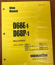 Komatsu D68E-1,D68P-1 Crawler Tractor Dozer Bulldozer Shop Repair Service Manual