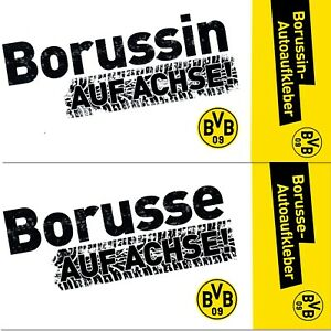 1 BVB Autoaufkleber Borussia Dortmund NEU /& OVP