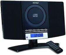 Denver MC-5220 NERO LETTORE CD Musica Stereo Sistema di montaggio a parete con orologio FM
