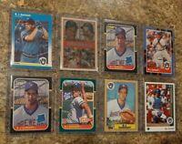 (8) B.J. Surhoff 1987 Fleer Donruss Topps Leaf Rookie card lot RC Brewers