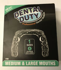 NEW DENTAL DUTY Mouth Guard For Grinding Teeth, 4 Pieces Medium & Large Mouths