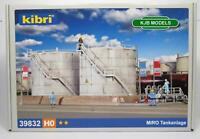BNIB OO HO GAUGE KIBRI 39832 DEPOT TWIN STORAGE TANK SILO FUEL / OIL / GAS - KIT