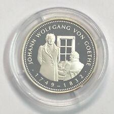 M70) Medaille J. W. von Goethe 500er Silber in PP