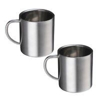 2 tazze da caffè in acciaio inossidabile Tazza da caffè in metallo Tazze da