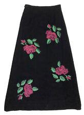 SARTORIA VINTAGE '70 Gonna Lunga Donna Velluto Velvet Woman Maxi Skirt Sz.M - 44