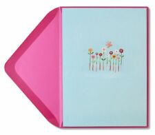 Papyrus Greeting Card -Whimsy Flowers with Butterfly Blank Card-Any Occasion