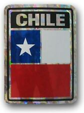 Wholesale Lot 6 Chile Country Flag Reflective Decal Bumper Sticker