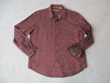 Robert Graham Button Up Shirt Adult 2XL XXL Red Black Exclusive Flip Cuff Mens
