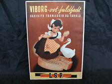 CARTELLO INSEGNA FORMAGGIO VIBORG OST BULDFEDT VINTAGE OLD SIGN