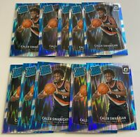 2017-18 Donruss Optic #175 CALEB SWANIGAN ROOKIE Shock Prizm PORTLAND LOT (10)