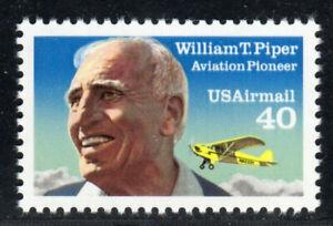 us airmail 1993 C132 40c William Piper reissue MNH XF gem fresh free shipping!