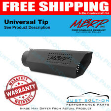 MBRP Universal Hex Tip 4in Inlet 16in Length w/o Logo - Black Coated T5165BLK