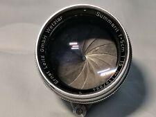 Leitz Wetzlar Leica Lens Objektiv Summarit 5cm 50mm 1:1.5 F1.5 Portrait M39