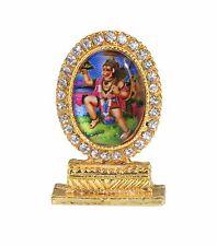 Traditional Oval Hanuman With Diamante Car/Home/Office/Mandir Hindu God Statue