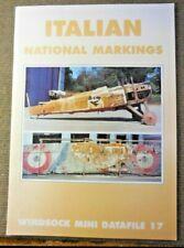 Vintage 2001 Windsock Mini Datafile 17 Italian National Markings Aircraft Book