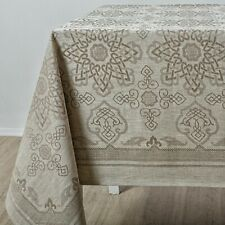 Linen tablecloth for kitchen. High European quality 100% Linen. Jacquard