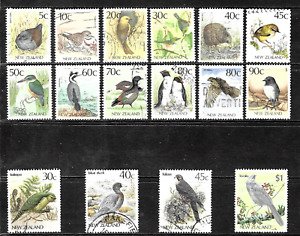"""New Zealand .. """" Birds"""" Stamp Collection .. 4017"""