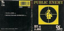 MINI CD SINGLE 2 TITRES COLLECTOR--PUBLIC ENEMY--911 IS JOKE--1990