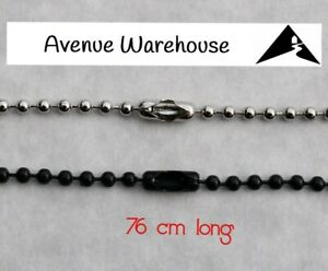 Ball Chain 2.4mm With Connector 76cm Long