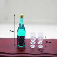 1:12 Dollhouse miniature accessories mini bottle + 4 cup  ME