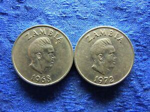 ZAMBIA 20 NGWEE 1968, 1972, KM13