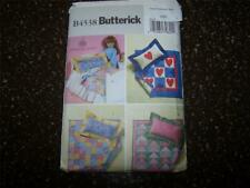 "Butterick B4538 18"" American Doll Sewing Pattern Bed Quilt Pillow Dust Ruffle"