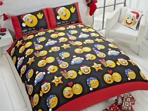 Christmas Icons Funky Bedding Set Duvet Cover Multi Single Double King Cushion