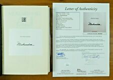 Muhammad Ali Signed Book His Life and Times with Full JSA Letter