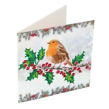 Craft Buddy Crystal Art DIY Christmas card ROBIN design diamond painting NEW