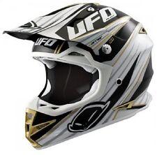 UFO Warrior H1 Trail MX Helmet - Motocross Enduro - Black/Adult Large