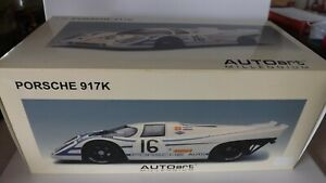 1:18 AUTOART  87086 PORSCHE 917K 12HRS SEBRING 1970 - ELFORD / AHRENS #16 MIB