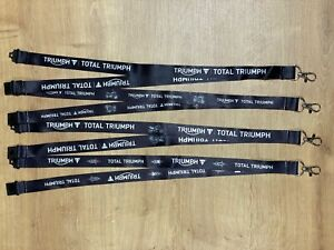 GENUINE Total Triumph Motorcycles Lanyard Black NEW - 1, 2 or 4 Pack!
