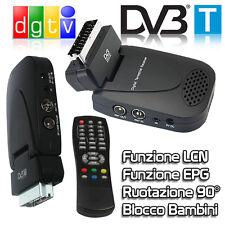 DECODER RICEVITORE DIGITALE TERRESTRE DVB-T2 LCN SCART INTEGRATA CON TELECOMANDO