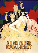 Fashion Lady Waiter Liquor Champagne Cusenier Vintage Poster Repro FREE S//H