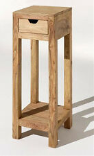 Zen Jali Sheesham 30x30x75h Side Lamp Table/ Plant Stand/ 100 Real Wood