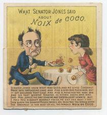 Metamorphic trade card - Noix de Coco - Senator Jones - Before and After - poem