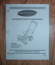 MTD YARDWORKS 31A-3AAD2 SNOW THROWER OPERATORS MANUAL WITH PARTS LIST