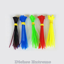 100 x Multi Coloured Nylon Cable Ties-100mm 20x Red, Blue, Yellow, Green, Purple