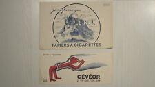 BUVARDS Publicitaires Années 50 - LENIL & GEVEOR - Cigarettes Vin